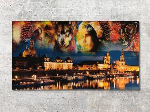 602-Leinwanddruck-Wandbild-Indianer in Dresden