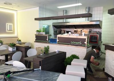 606-Beschriftung-Guensels Bistro und Restaurant im EKZ Weissig