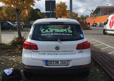 606-Fahrzeugbeschriftung-Guensels Bistro und Restaurant im EKZ Weissig