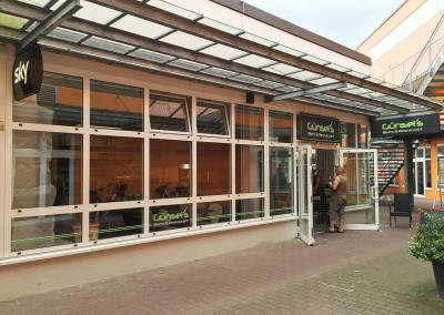 606-Fensterbeschriftung-Guensels Bistro und Restaurant im EKZ Weissig