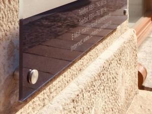 606-Schild-Acrylglas-Abstandshalter-Edelstahl