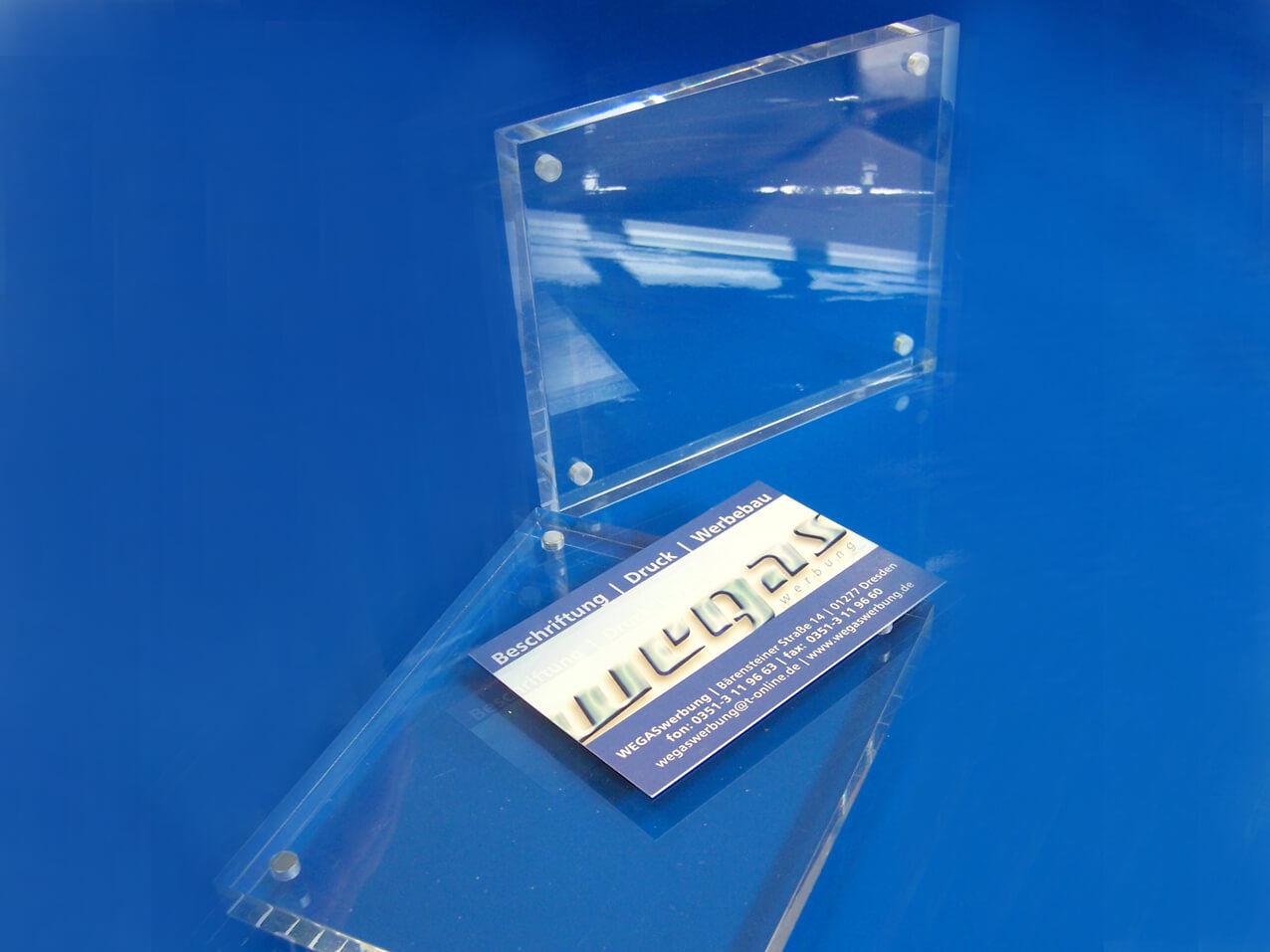 Tischaufsteller-Magnet-Visitenkarten-Flyer-Karten