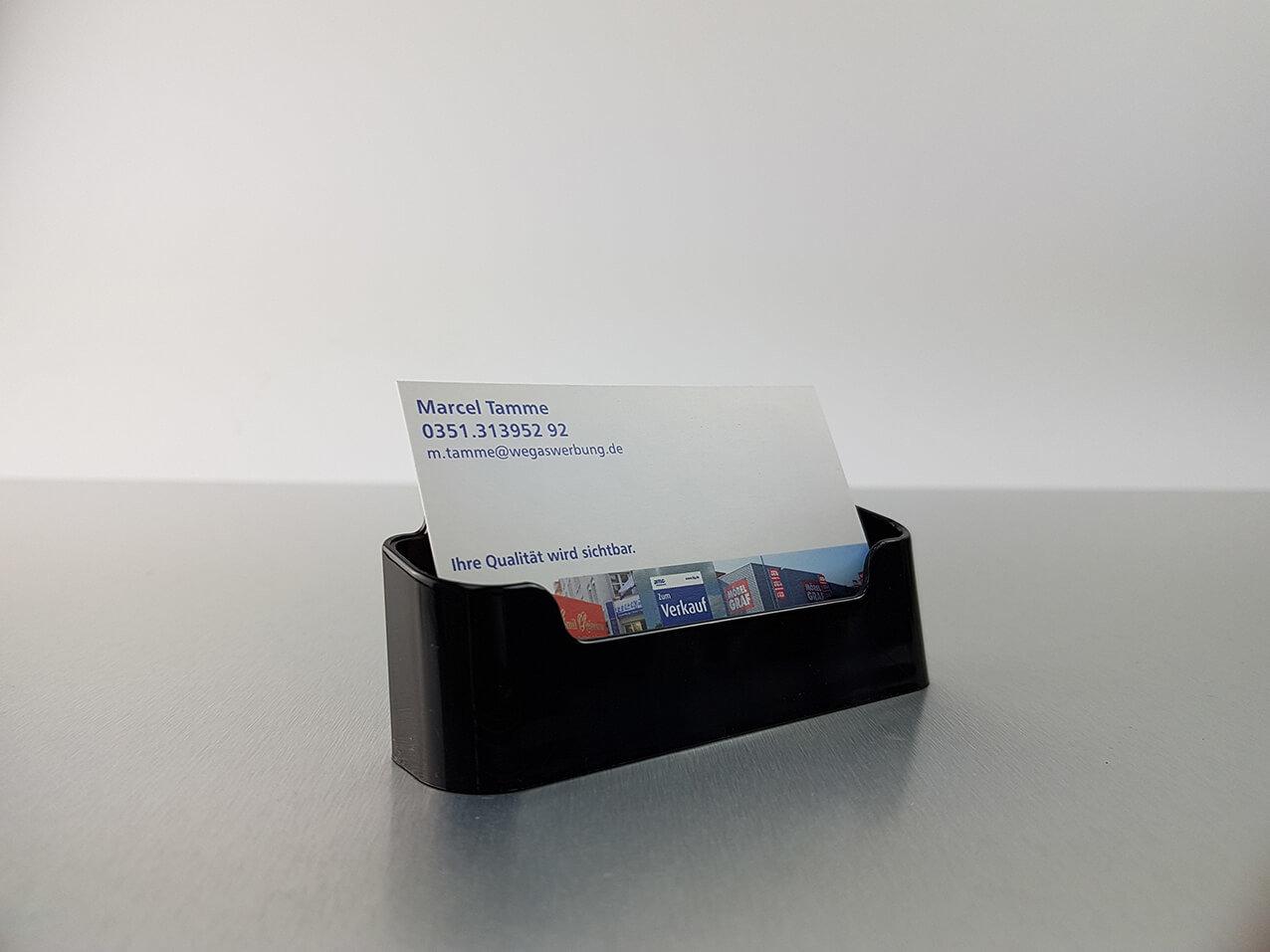 Visitenkartenhalter Acrylbox Tischaufsteller Wegaswerbung
