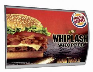 516-LED-Convex-Klapprahmen-Snap-Frame-Bilderrahmen-Burger-King