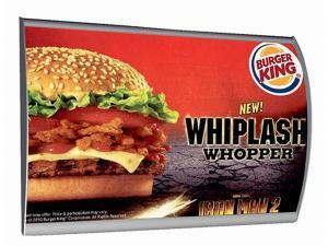 516-LED-Convex-Klapprahmen-Snap-Frame-Bilderrahmen-Burger-King-Plakatdruck