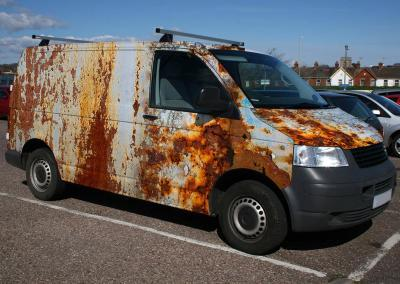 618-Autofolie-Rost-Lack-verrostet-VW-Transporter-Carwrapping-foliert