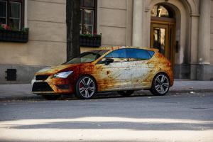 622-Autofolie-Rost-Lack-verrostet-Carwrapping-foliert-VW-Seat