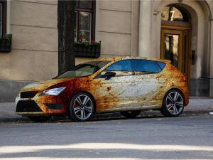 622-Autofolie-Rost-Lack-verrostet-Carwrapping-kleben-VW-Seat