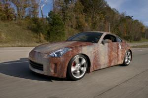 623-Autofolie-Rost-Lack-verrostet-Carwrapping-foliert-Nissan