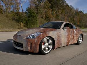 623-Autofolie-Rost-Lack-verrostet-Carwrapping-kleben-Nissan