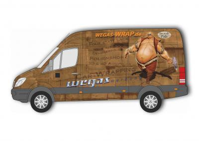 Autofolie-Carwrapping-Sprinter-Rost-Platten-Nieten-verrostet