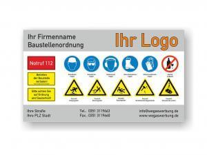 Plane-Banner-Hinweisschild-Baustellenordnung-wegaswerbung