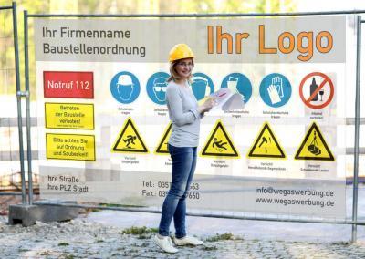 Plane-Baustellenordnung-Bauleiterin-Projektleiterin-wegaswerbung