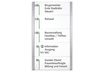Schilder-System-Kristallino-Infoschild-lang-Wegweiser
