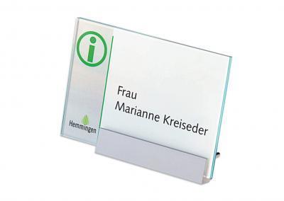 Schilder-System-Kristallino-Tischaufsteller