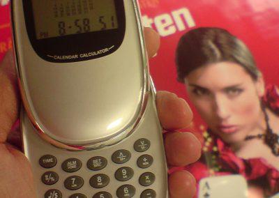 505-Uhr Taschenrechner Kalkulator Terminplaner Druck