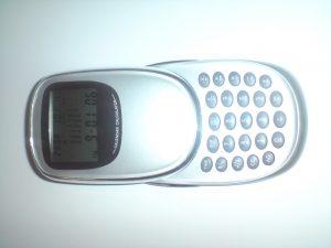 506-Uhr Taschenrechner Kalkulator Terminplaner Druck