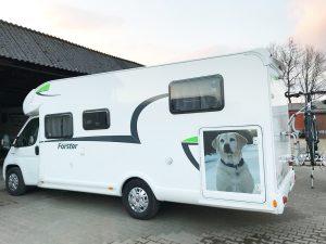 624-Wohnmobil-Aufkleber-Bild-Foto-mit-Hund