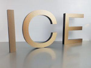 601-Fraesbuchstabe-ICE-Bronze-Edelstahllook-geschliffen