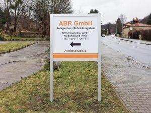 637-Aufsteller-ABR-Pirna-Dresden-Schild