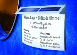 LED-Aussenleuchten-Solar-Infotafel-Schild-Arzt-Praxis
