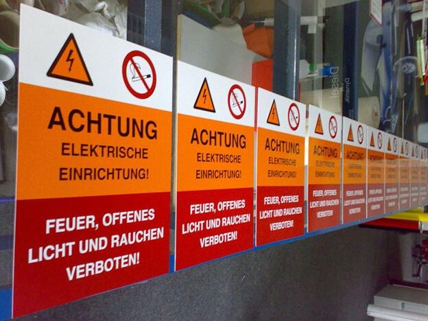 Siebdruck Aufkleber Schilder Bedrucken Drucken Dresden