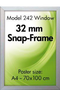 242-Klapprahmen Fenster Doppelrahmen snap-frame-Plakathalter