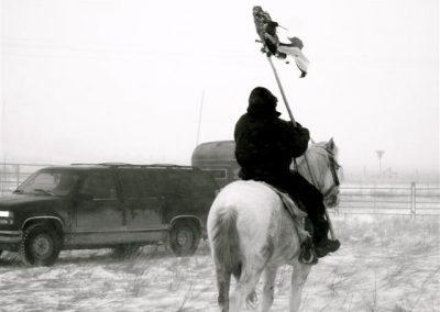 Geld Spende Winterprojekt Lakota Indianer USA