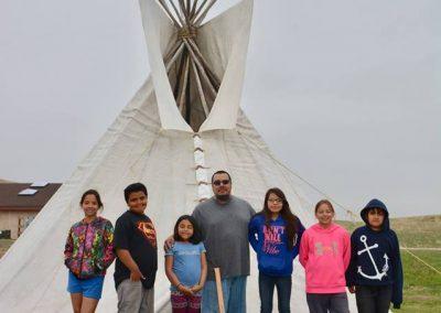 Hilfe Winterprojekt Lakota Dakota Indianer USA