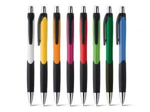 Kugelschreiber-Dresden-Plastik-gelb-weiss-orange-pink-rot-gruen-blau