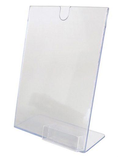 1220-Tischschilder-Tischaufsteller-L-Form-Acryl-Visitenkartenbox