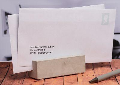 Kartenhalter-Box-Beton-Visitenkarte-Kuvert-Notizzettel