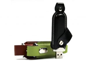 USB Stick Leder-Werbemittel-Druck