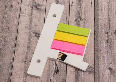 USB-Stick-Orga-Flash-Note-Notizzettel-Haftnotizen-fuer-Ringbuchordner