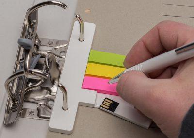 USB-Stick-Orga-Flash-Note-mit-Notizzettel-Neonfarben