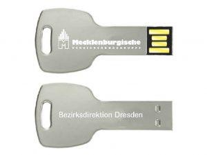 USB-Stick-Schluessel-Close-Metall-Werbemittel-Werbeaufdruck-Versicherung