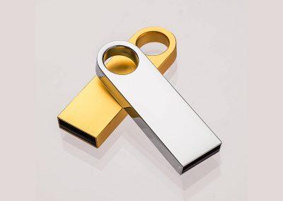 USB-Stick-Thalia-Chrom Silber Gold-Werbemittel-Werbedruck
