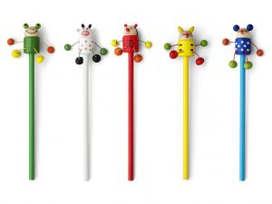 Woody-Bleistift-Kuh-Frosch-Kaefer-Katze-Maus-Werbemittel-Druck