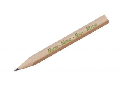 Woody Bleistift kurz 6-eckig-Werbeaufdruck-Werbeartikel