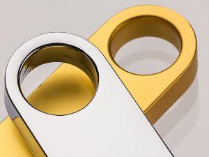 USB-Stick-Thalia-Silber-Gold-Chrom-Werbemittel-Werbeartikel