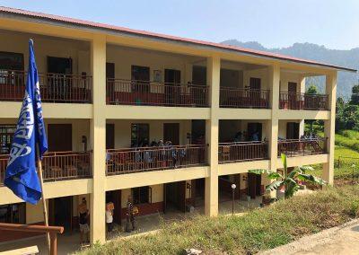 Aufgebaute Schule Nepal durch Spendengelder