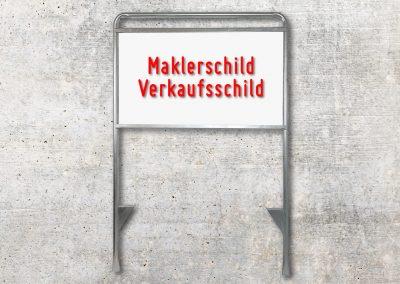 Maklerschild-Aufsteller-Gestell-Verkaufsschild-Firmenschild