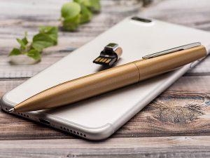 USB-Pen-Aluminium-Parker-Kugelschreiber-Stick-Werbemittel-gold