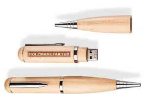 USB-Pen-Kugelschreiber-Stick-Holz-Werbemittel-Gravur
