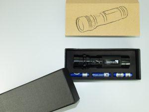 LED-Taschenlampe-Metall-Geschenkkarton-Werbedruck