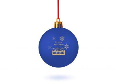Weihnachstkugel-blau-bedrucken-Weihnachtsbaum-Schmuck-Werbedruck