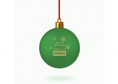Weihnachstkugel-gruen-bedrucken-Weihnachtsbaum-Schmuck-Werbedruck