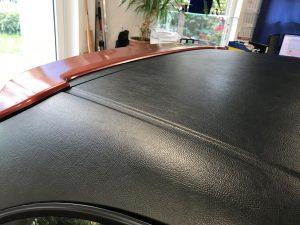626-Autofolierung-Car Wrapping-Leder-schwarz-Dach