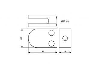 Schilderhalter-Edelstahl-Plattenklemmsystem-Rohr-Kopenhagen-34-Skizze