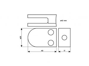 Schilderhalter-Edelstahl-Plattenklemmsystem-Rohr-Kopenhagen-42-Skizze